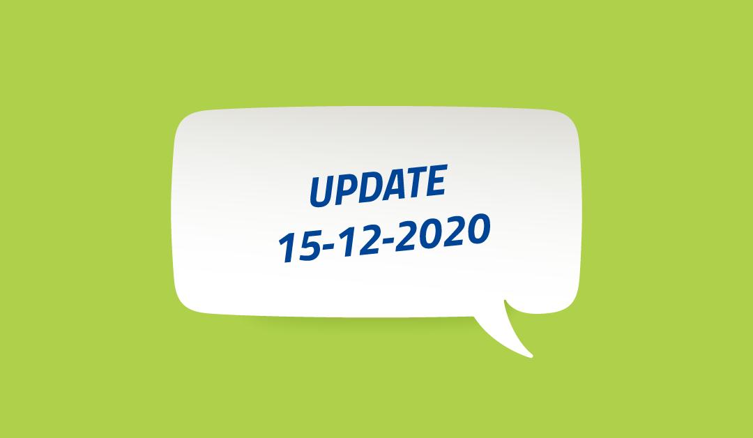 Update m.b.t. corona-virus en maatregelen VARIVA 15 december 2020